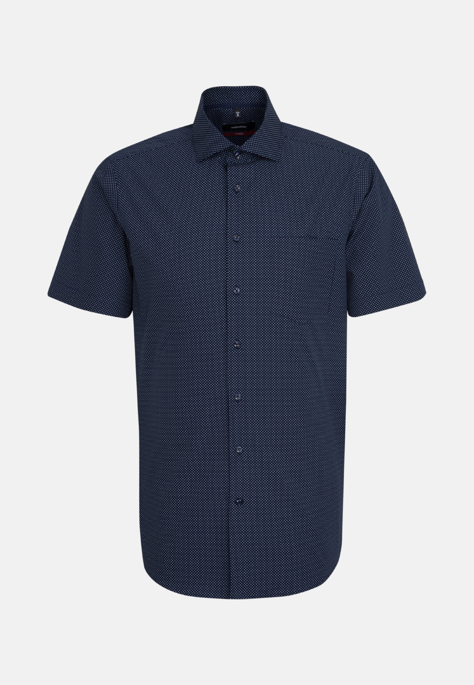 Easy-iron Poplin Short arm Business Shirt in Modern with Kent-Collar in dunkelblau |  Seidensticker Onlineshop