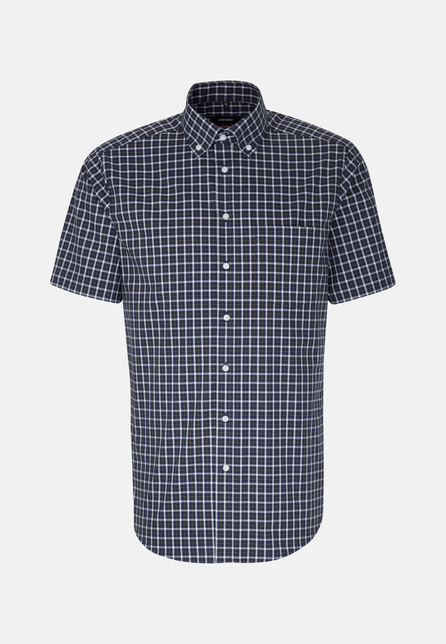 Non-iron Poplin Short arm Business Shirt in Modern with Button-Down-Collar in Green |  Seidensticker Onlineshop