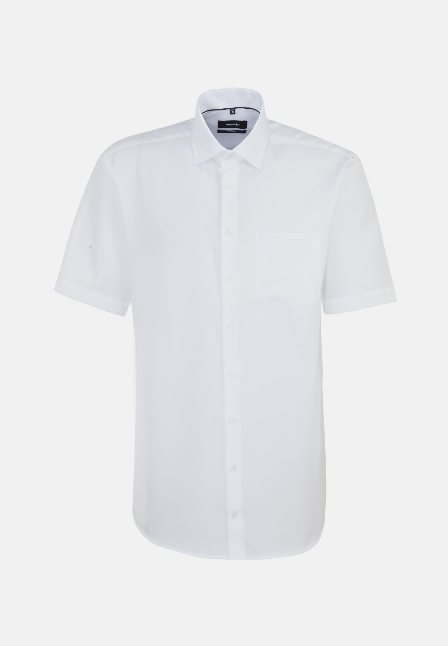 Non-iron Structure Short arm Business Shirt in Comfort with Kent-Collar in weiß |  Seidensticker Onlineshop