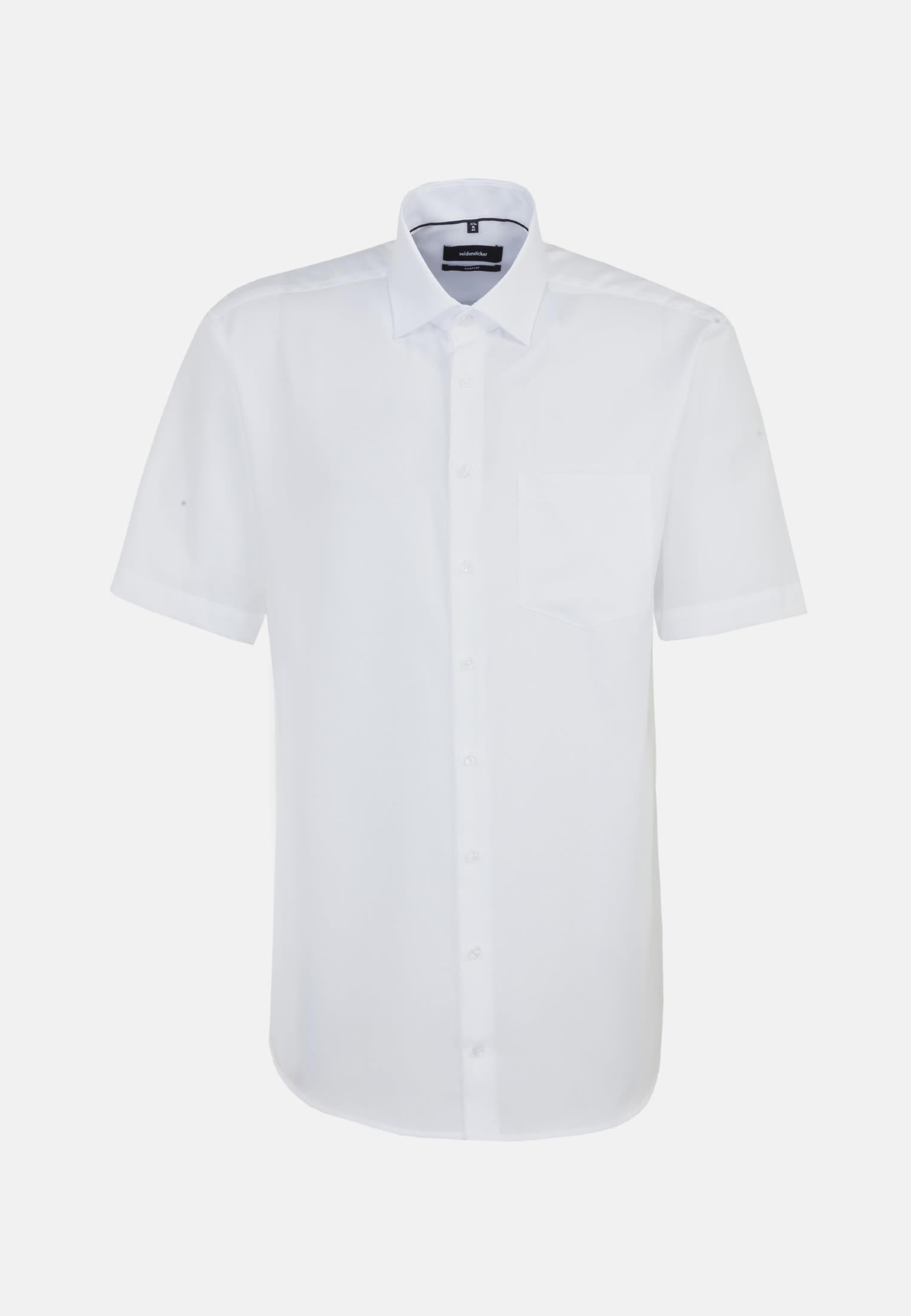 Bügelfreies Struktur Kurzarm Business Hemd in Comfort mit Kentkragen in Weiß |  Seidensticker Onlineshop