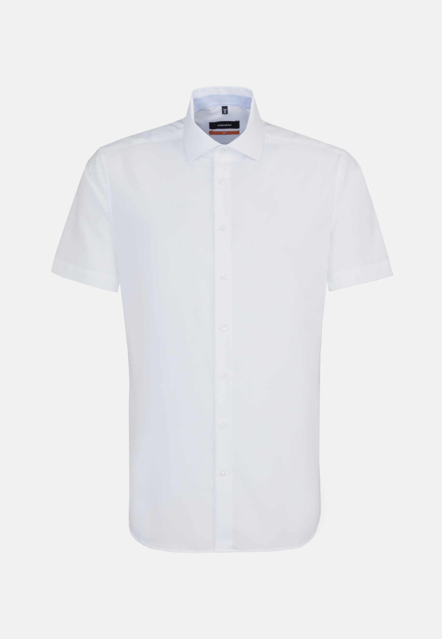 Non-iron Chambray Short arm Business Shirt in Slim with Kent-Collar in White |  Seidensticker Onlineshop