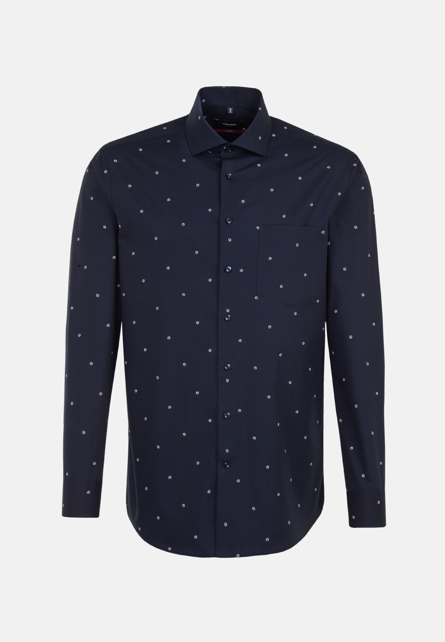 Easy-iron Poplin Business Shirt in Regular with Kent-Collar in Purple    Seidensticker Onlineshop