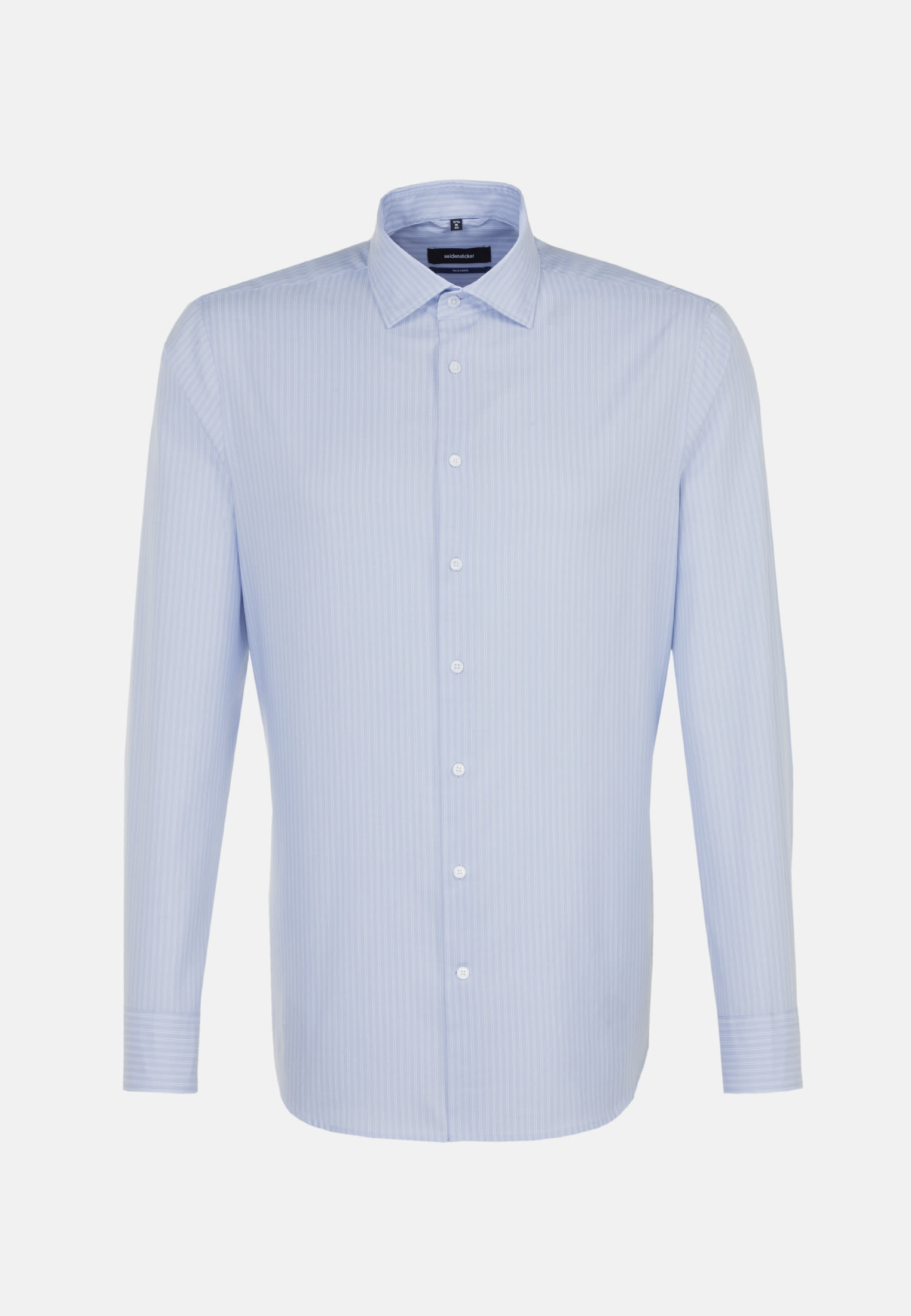 Easy-iron Twill Business Shirt in Tailored with Kent-Collar in Light blue |  Seidensticker Onlineshop