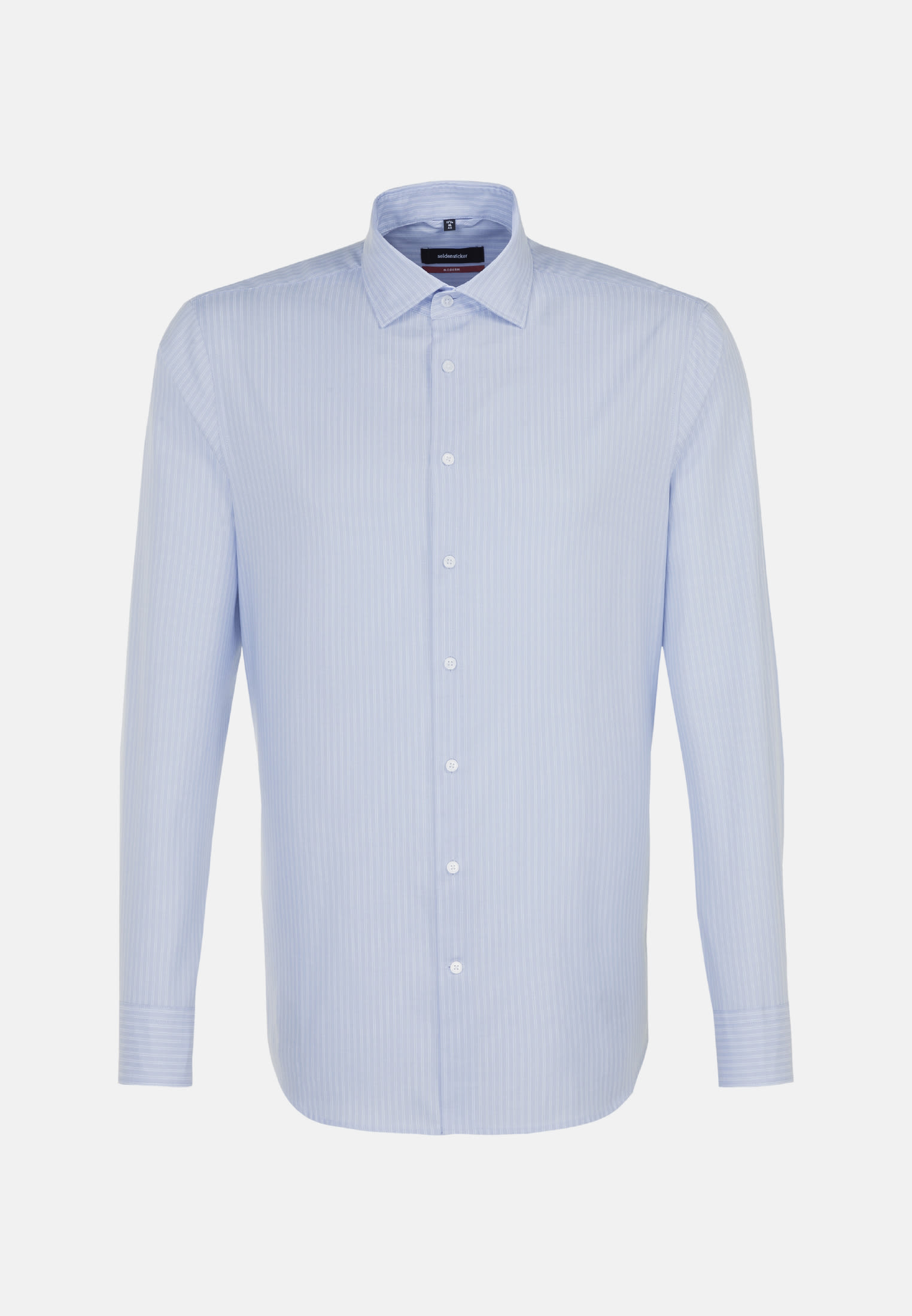 Easy-iron Twill Business Shirt in Regular with Kent-Collar in Light blue |  Seidensticker Onlineshop