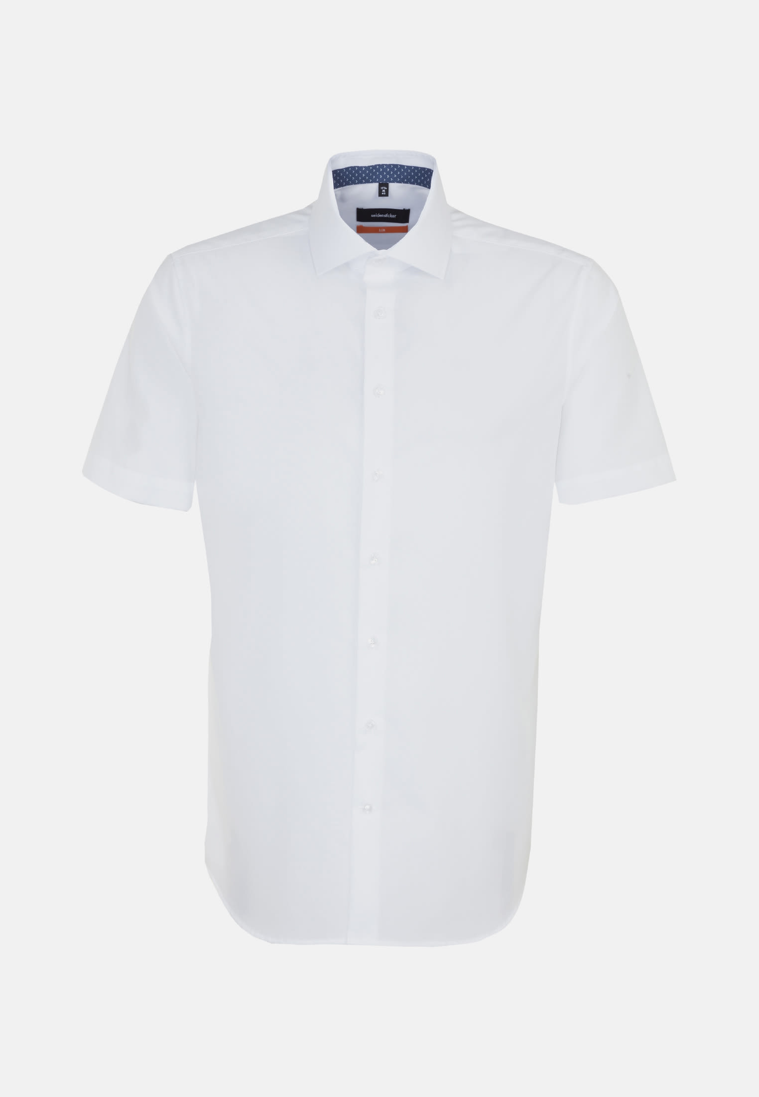 Non-iron Poplin Short arm Business Shirt in Slim with Kent-Collar in White |  Seidensticker Onlineshop