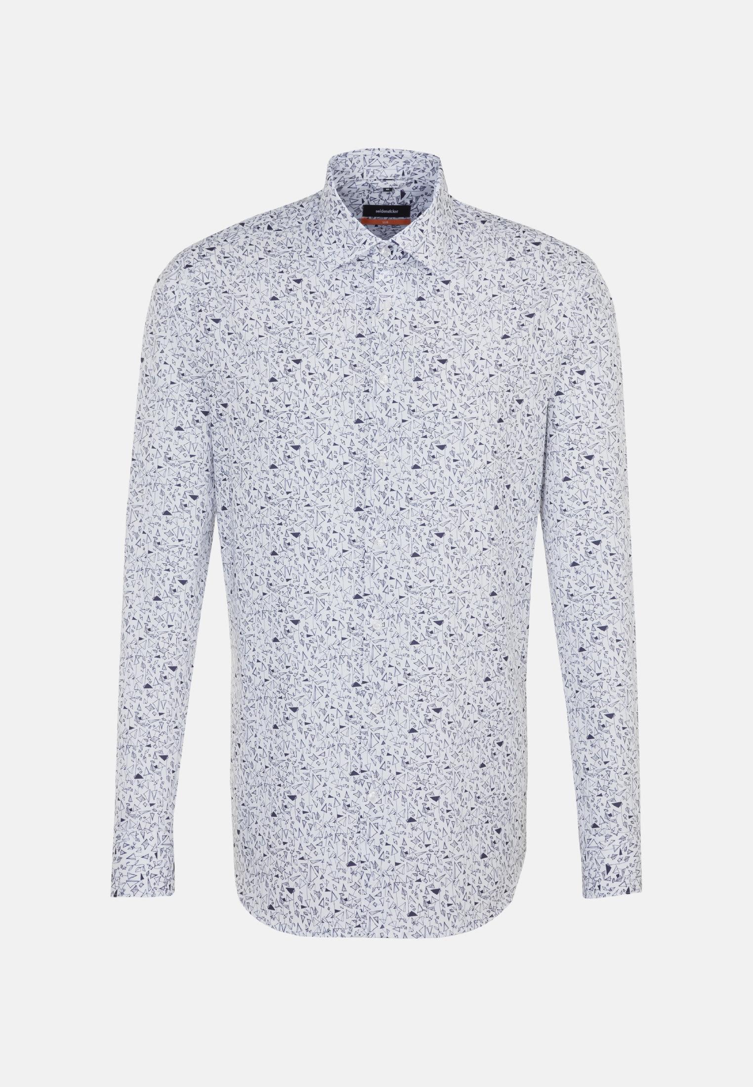 Easy-iron Poplin Business Shirt in Slim with Kent-Collar in dunkelblau    Seidensticker Onlineshop