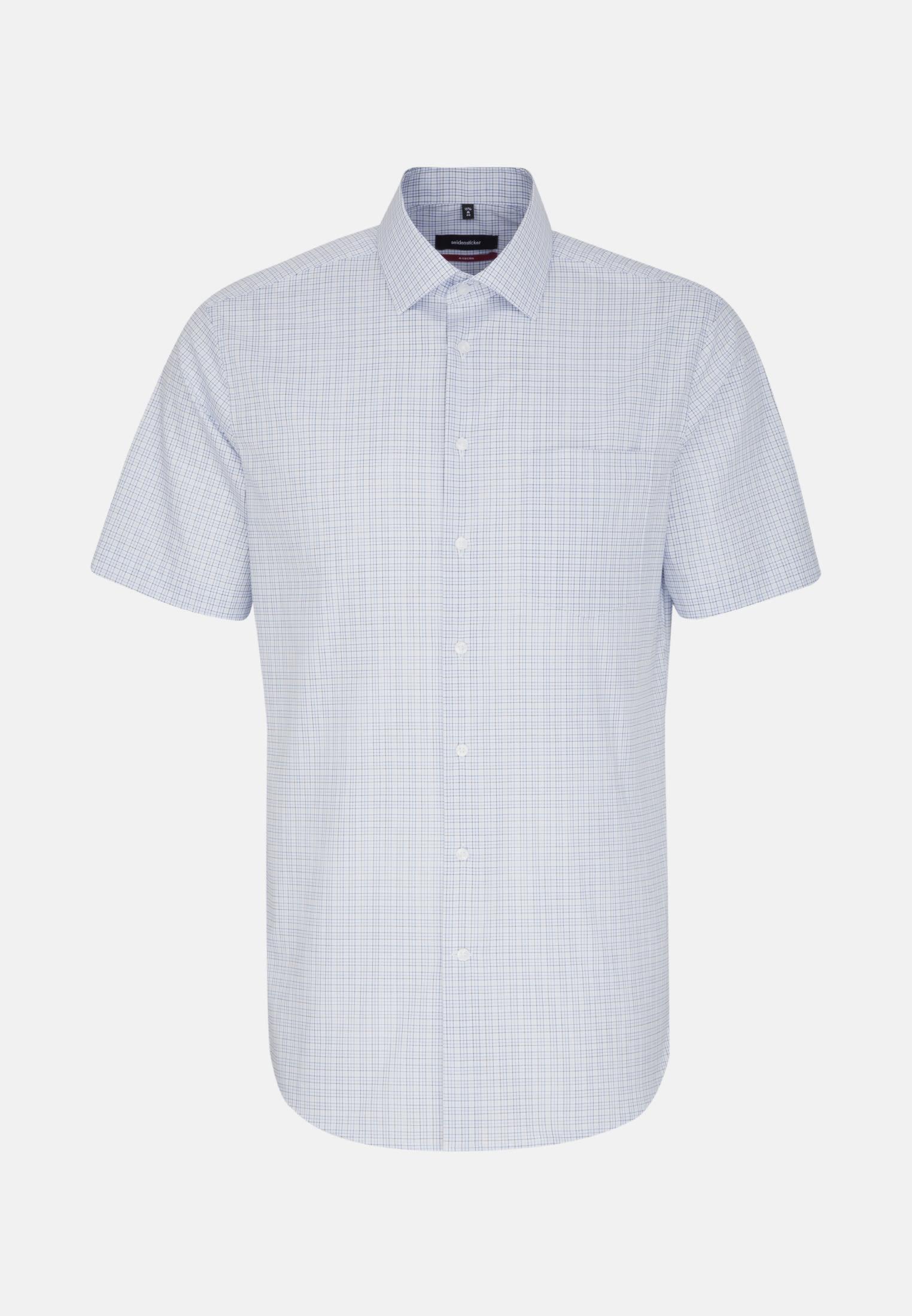 Non-iron Poplin Short arm Business Shirt in Modern with Kent-Collar in blau |  Seidensticker Onlineshop