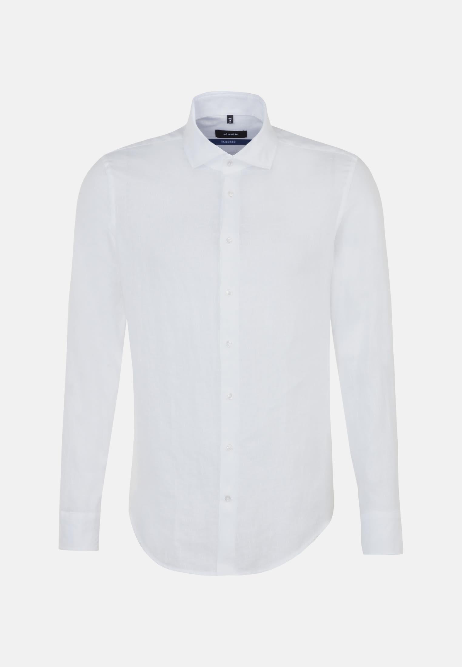 Twill Business Hemd in Shaped mit Kentkragen in Weiß |  Seidensticker Onlineshop