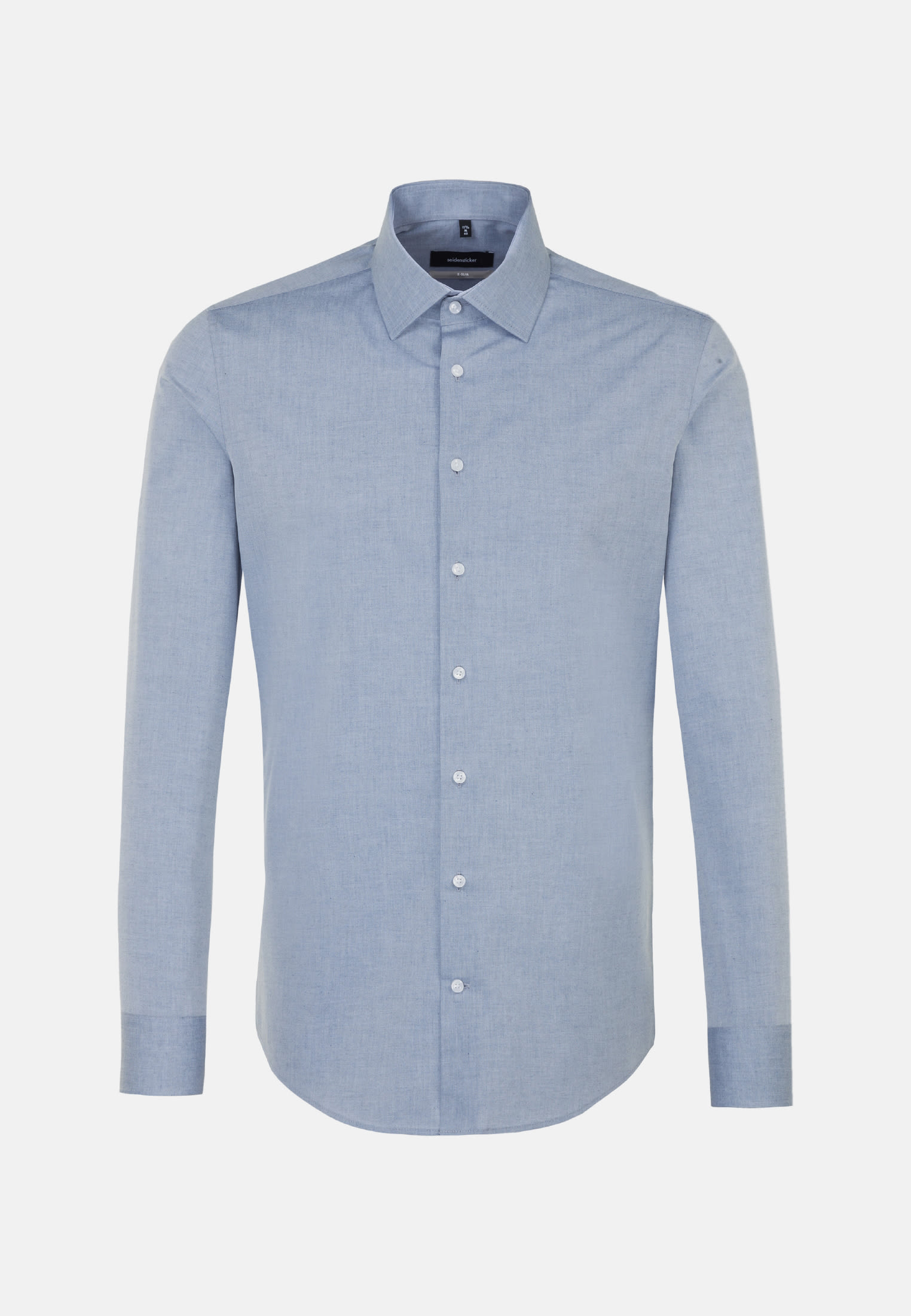 Easy-iron Melange yarns Business Shirt in X-Slim with Kent-Collar in Medium blue |  Seidensticker Onlineshop