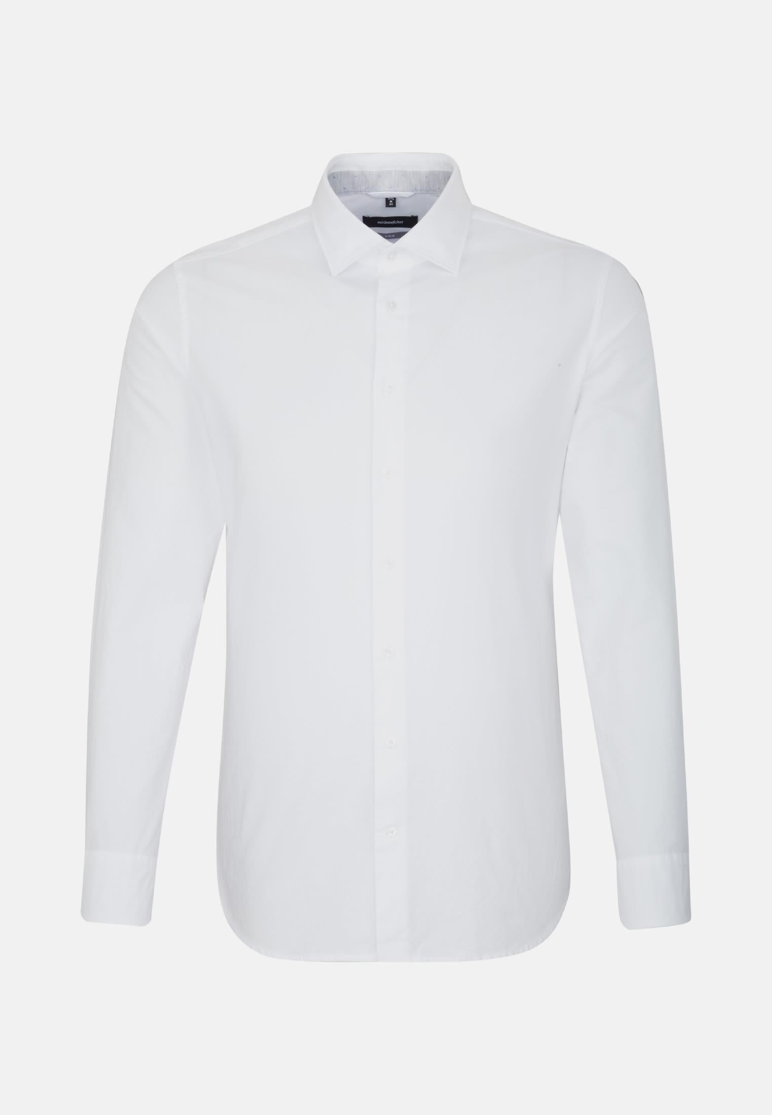 Bügelleichtes Oxford Business Hemd in X-Slim mit Kentkragen in Weiß |  Seidensticker Onlineshop