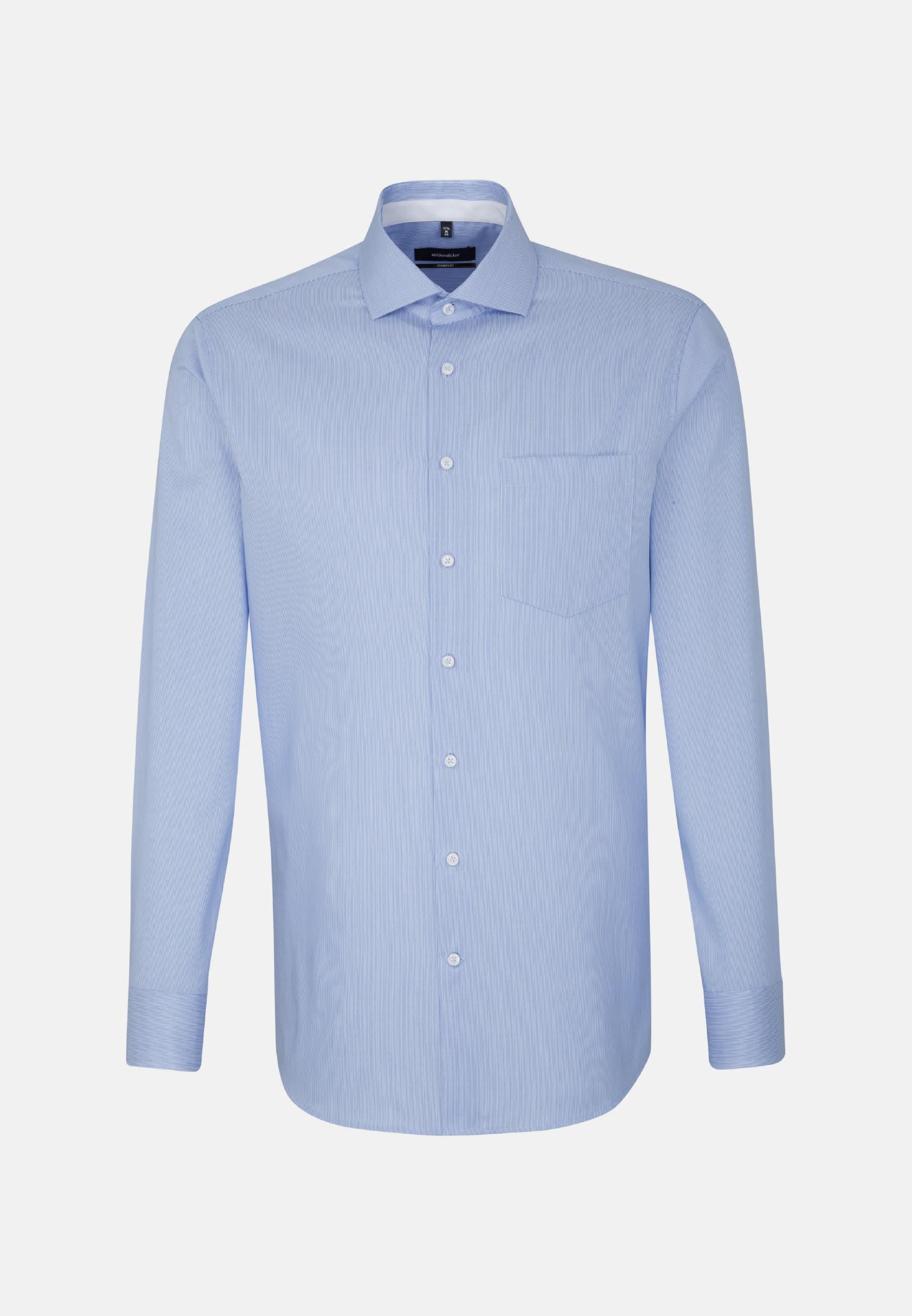 Non-iron Twill Business Shirt in Comfort with Kent-Collar in blau |  Seidensticker Onlineshop