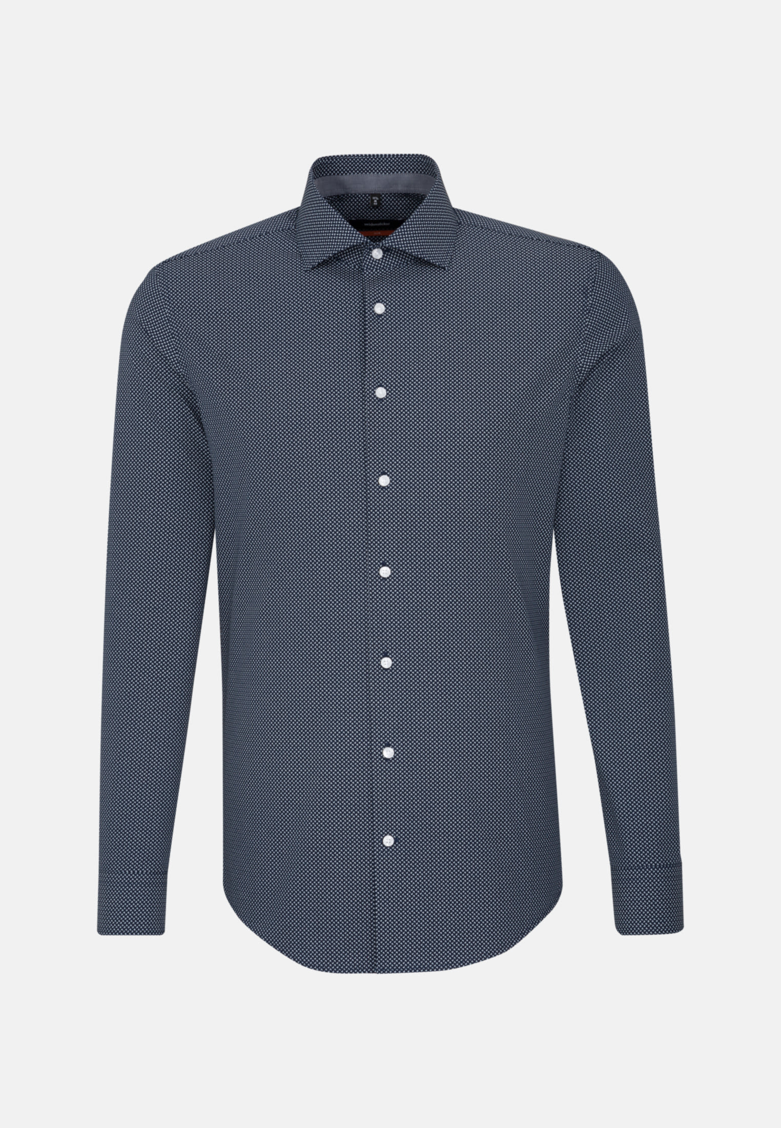 Easy-iron Poplin Business Shirt in Slim with Kent-Collar and extra long arm in Dark blue |  Seidensticker Onlineshop