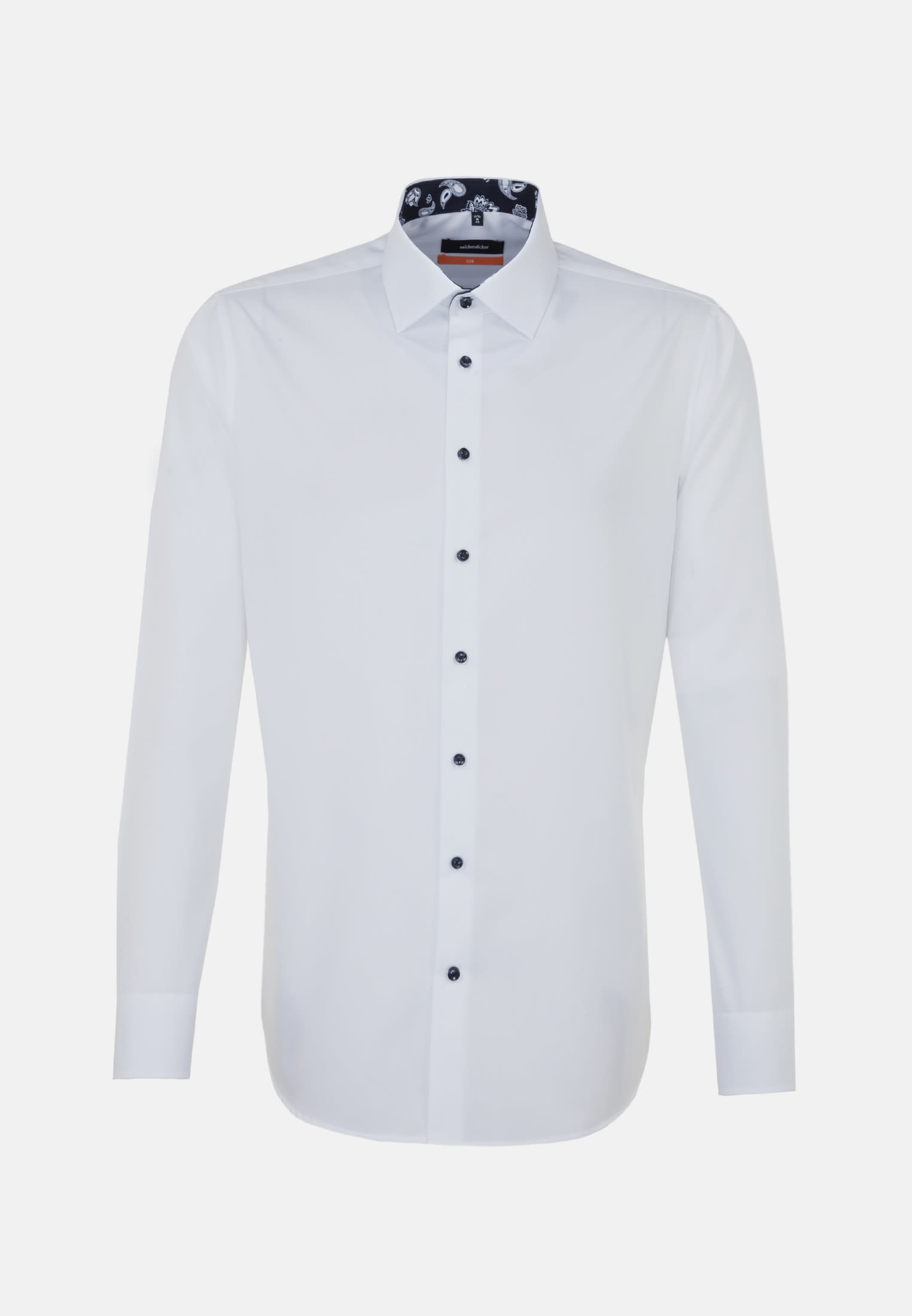 Non-iron Poplin Business Shirt in Slim with Kent-Collar in White |  Seidensticker Onlineshop