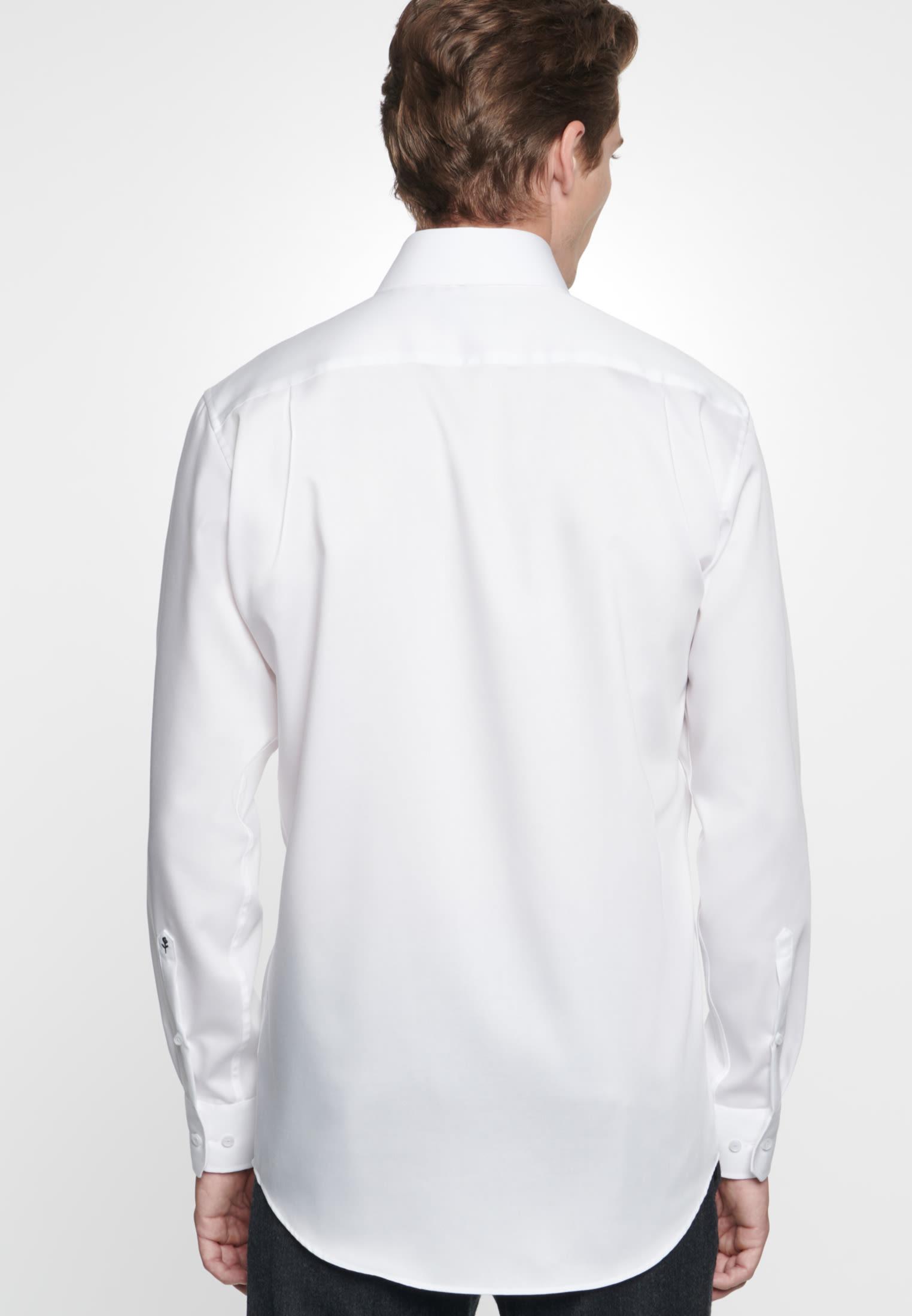 Non-iron Twill Business Shirt in Comfort with Kent-Collar in weiß |  Seidensticker Onlineshop