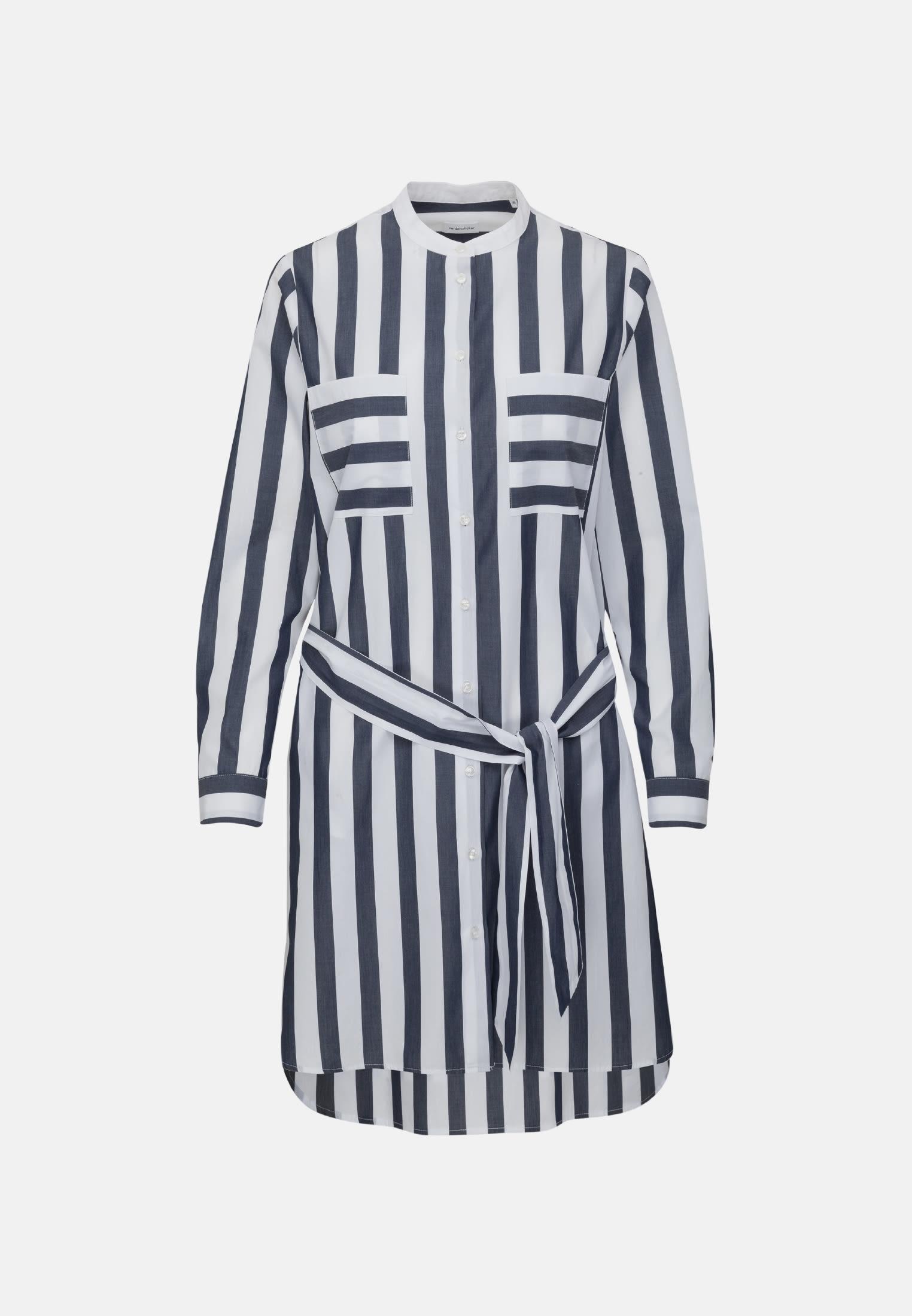 Poplin Midi Dress made of 100% Cotton in Dark blue |  Seidensticker Onlineshop