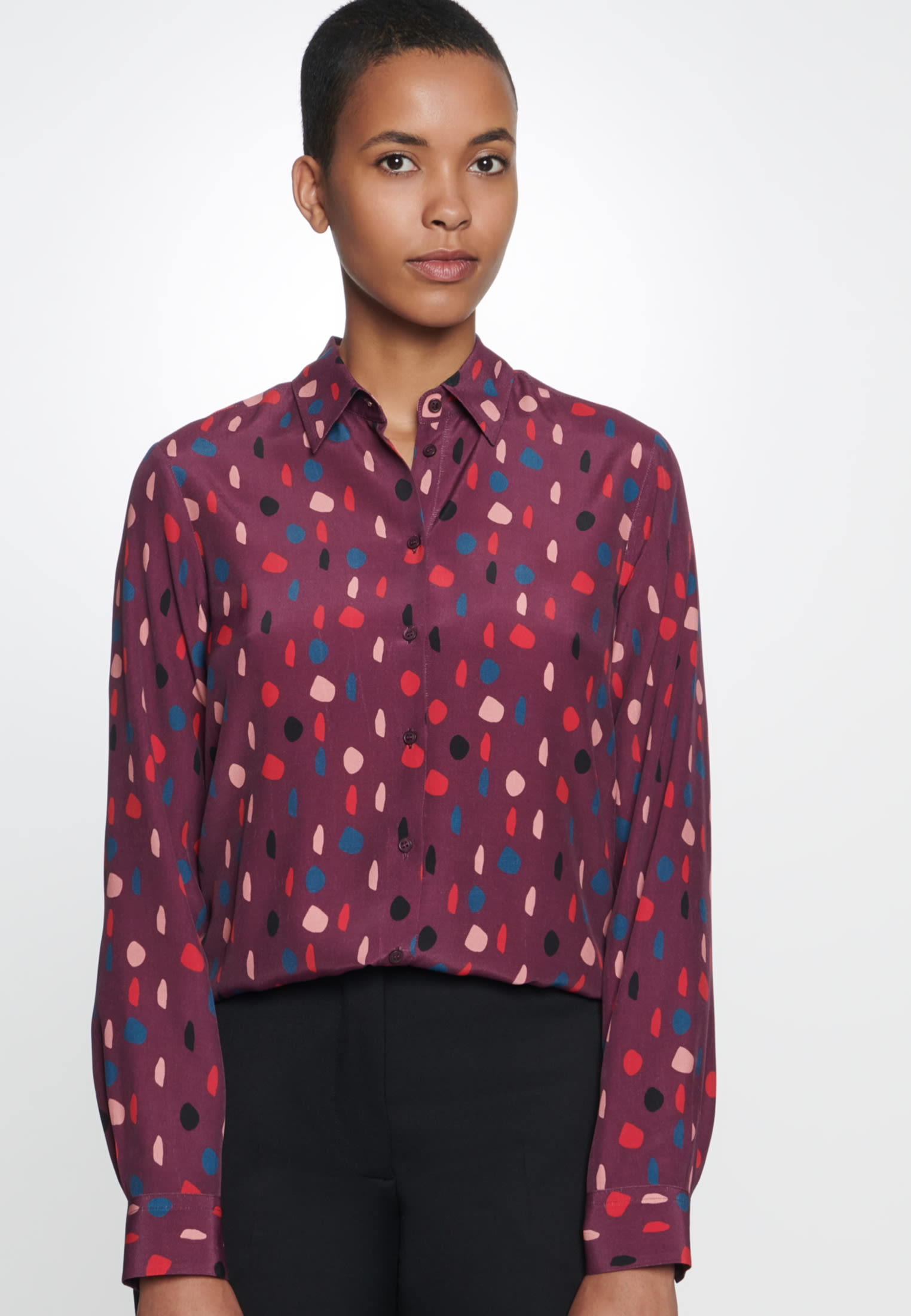 Chiffon Shirt Blouse made of 100% Viscose in Red |  Seidensticker Onlineshop