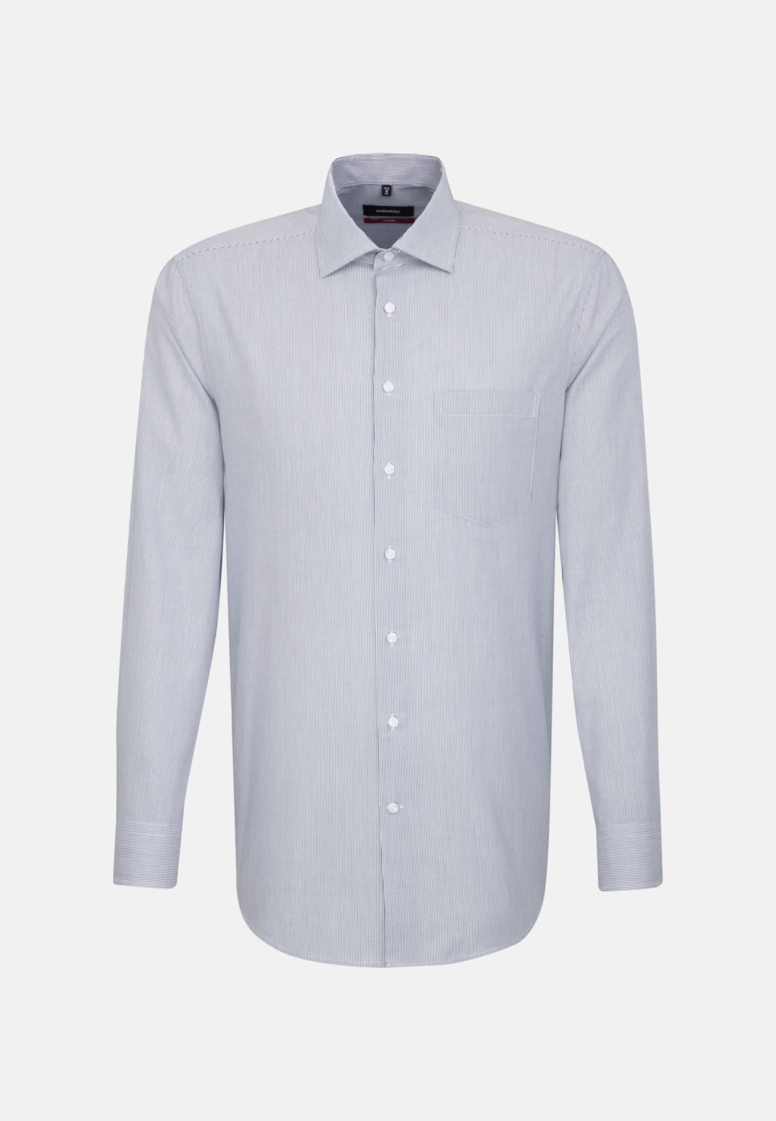 Bügelleichtes Cotele Business Hemd in Regular mit Kentkragen in Dunkelblau |  Seidensticker Onlineshop
