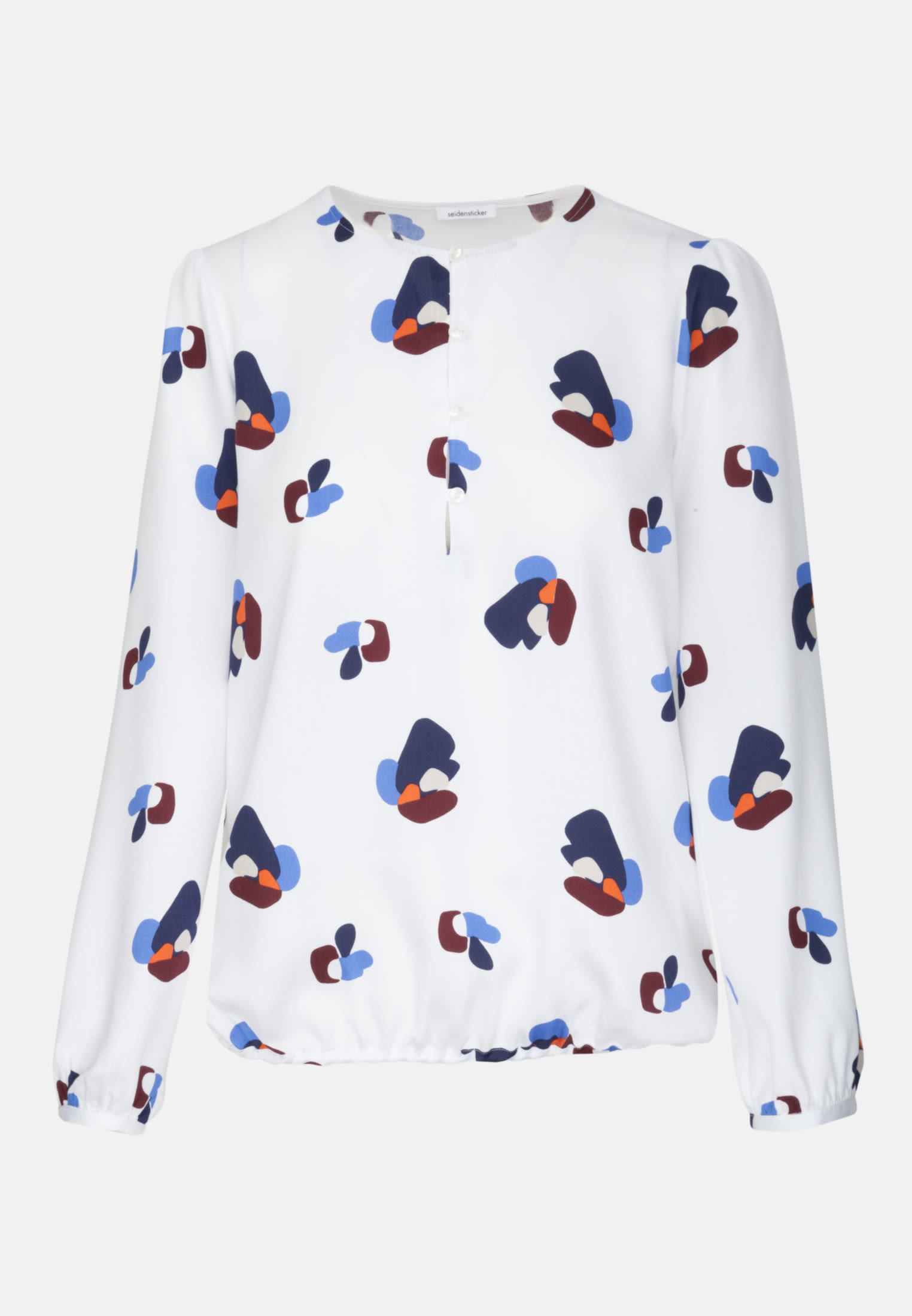 Voile Shirt Blouse made of 100% Viscose in Medium blue |  Seidensticker Onlineshop