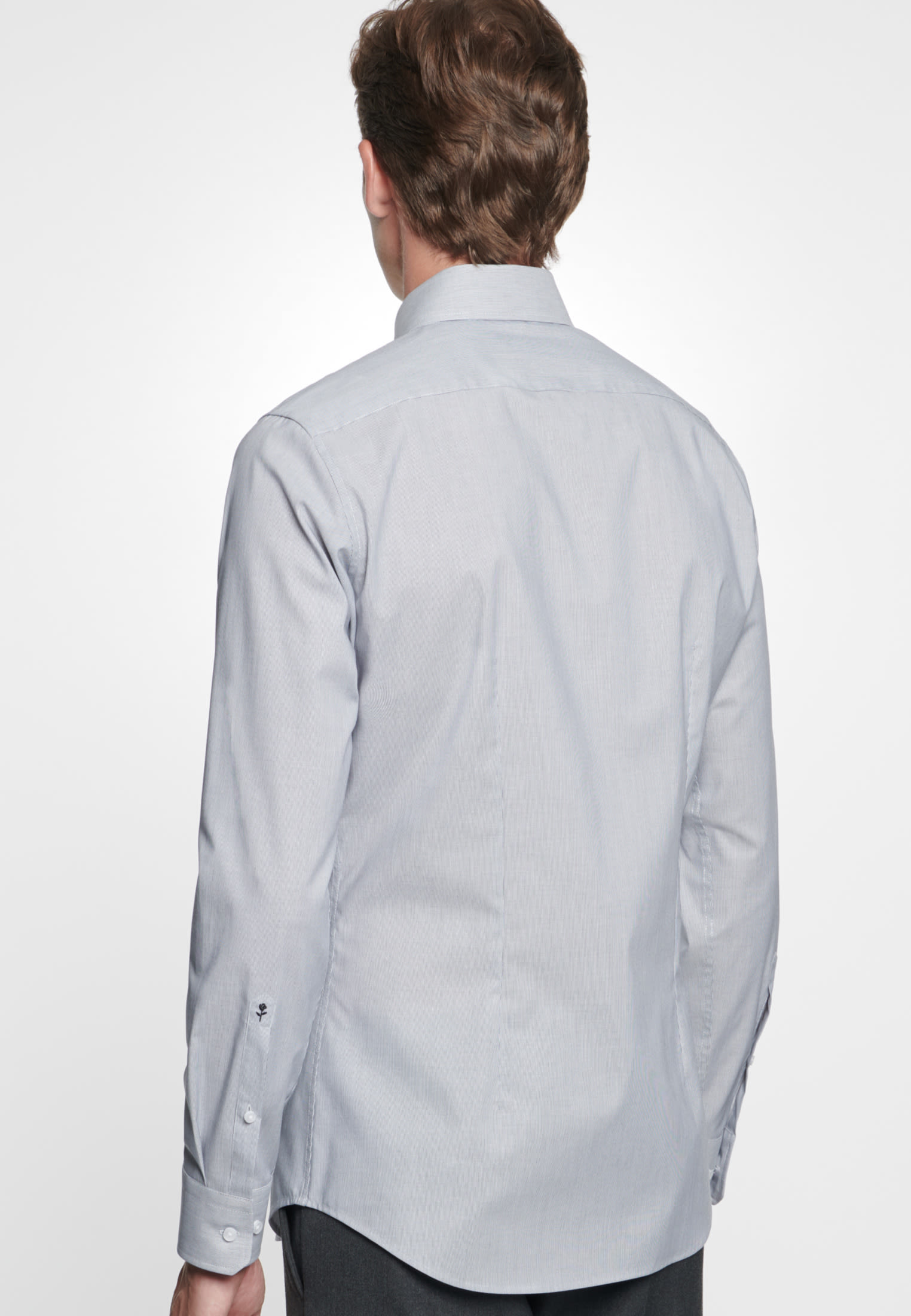 Non-iron Poplin Business Shirt in X-Slim with Kent-Collar in Dark blue |  Seidensticker Onlineshop