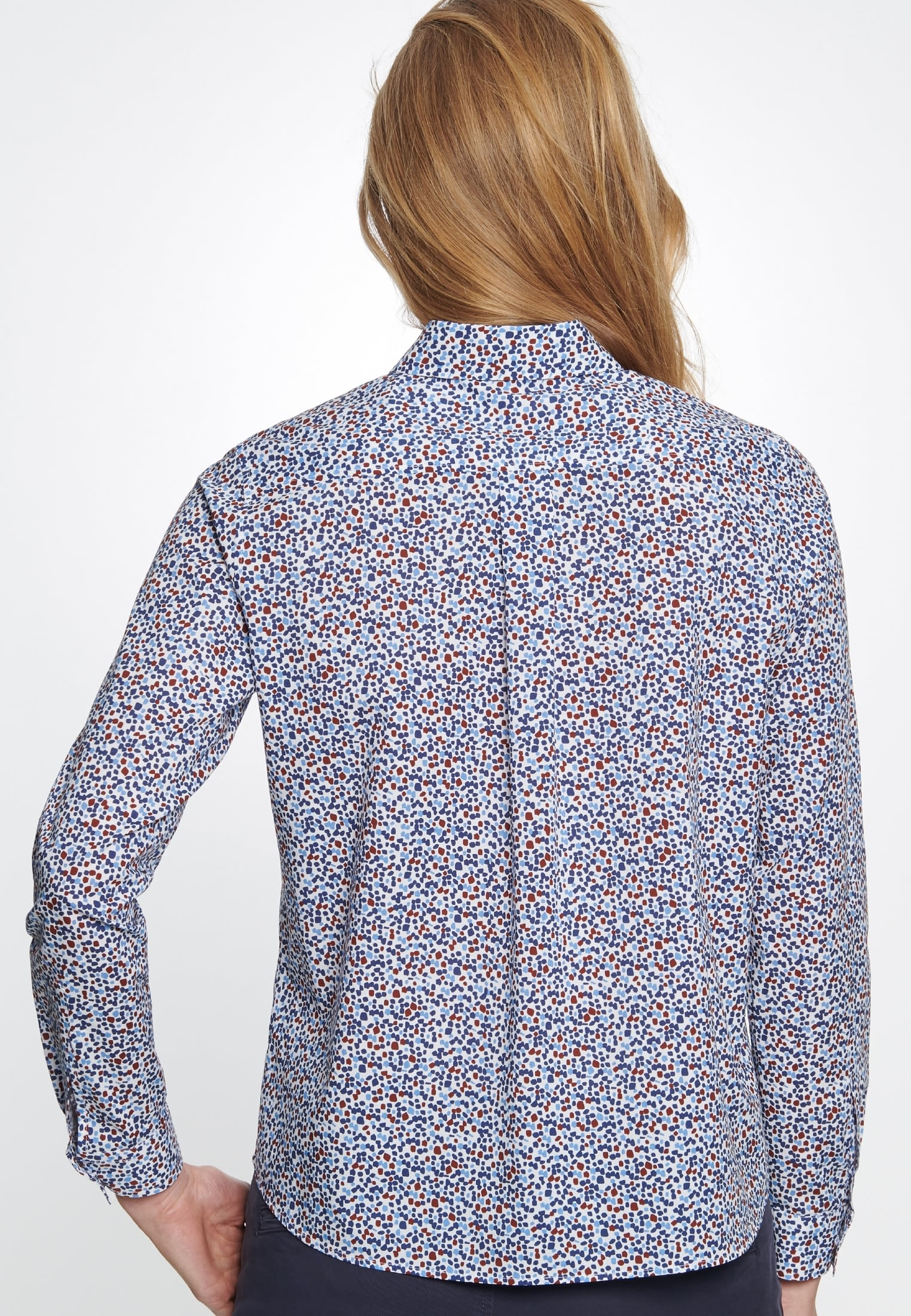 Voile Shirt Blouse made of 100% Cotton in blau |  Seidensticker Onlineshop