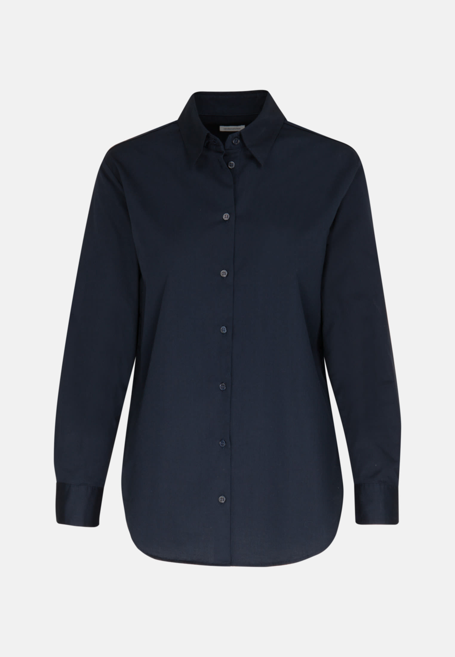 Twill Shirt Blouse made of 100% Cotton in Dark blue |  Seidensticker Onlineshop