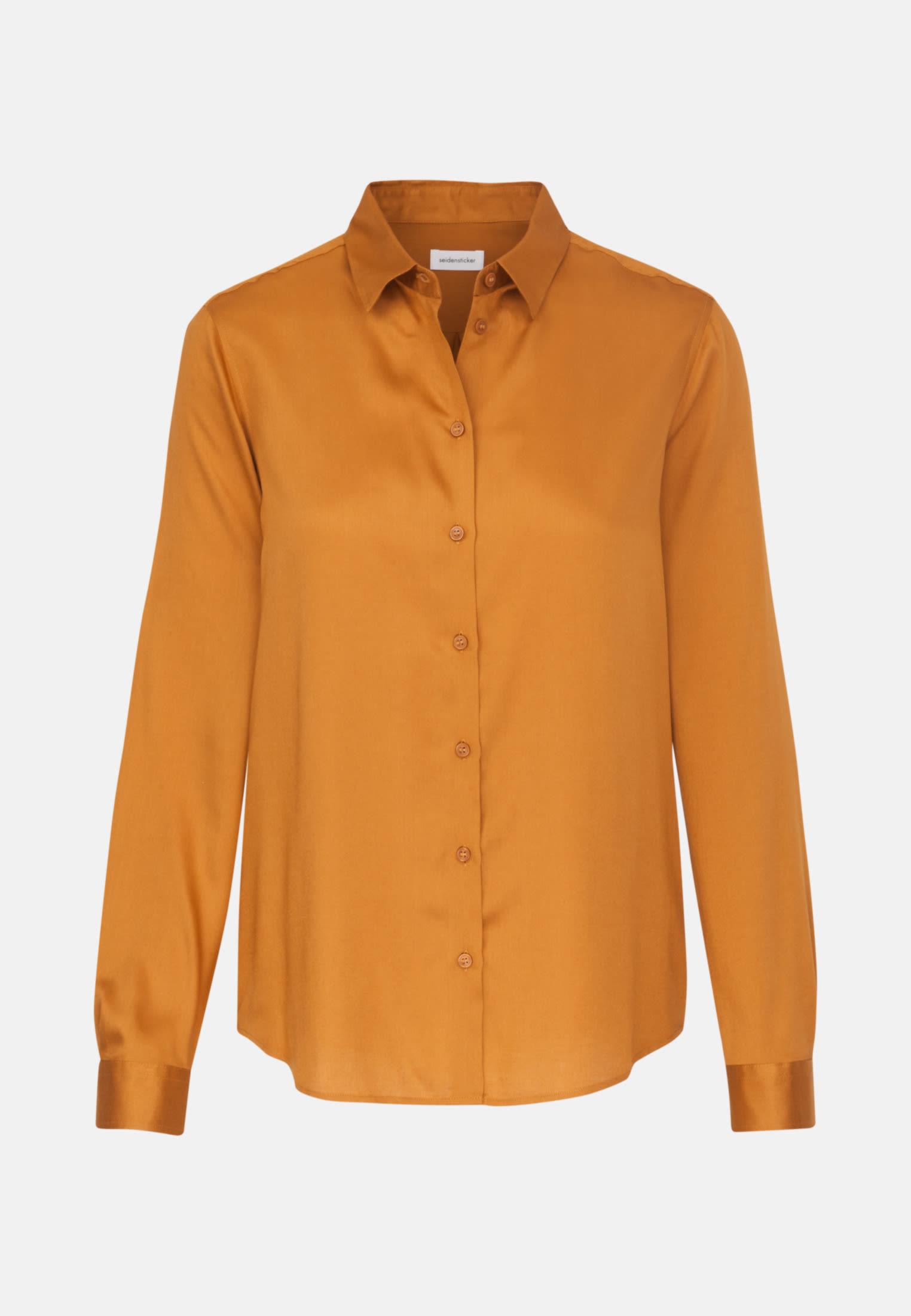 Satin Shirt Blouse made of 100% Viscose in Orange |  Seidensticker Onlineshop