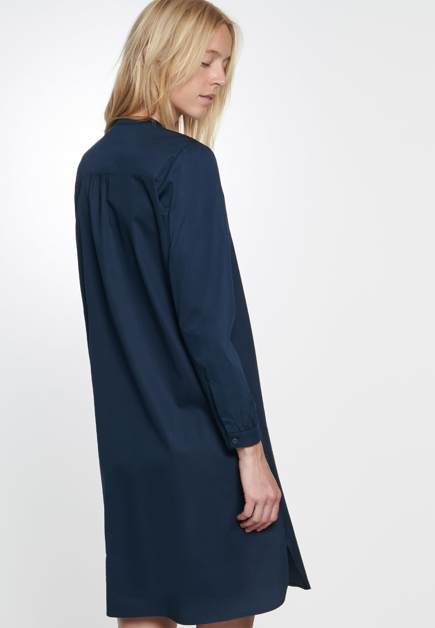 Twill Midi Kleid aus 100% Baumwolle in Dunkelblau |  Seidensticker Onlineshop