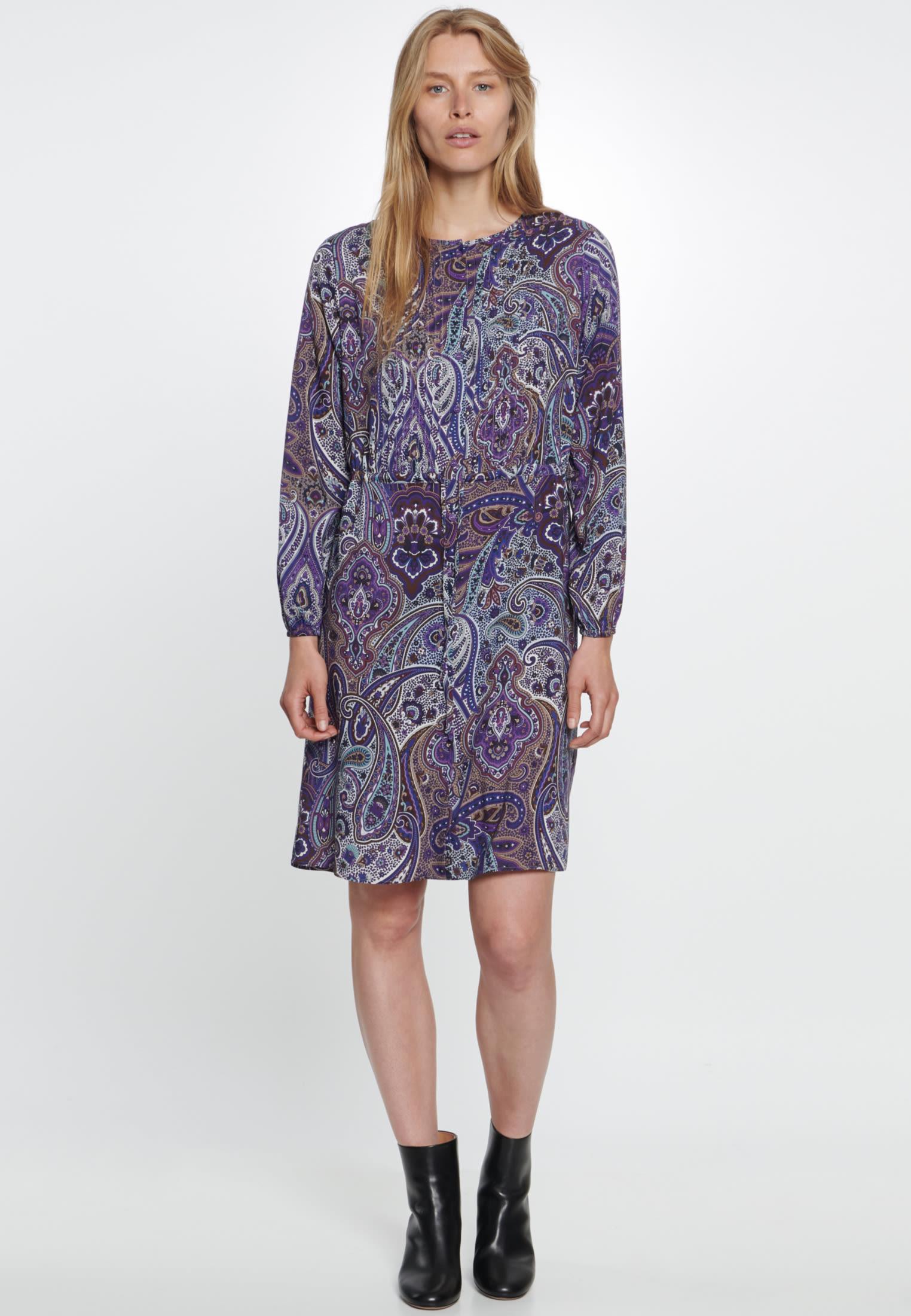 Voile Midi Dress made of 100% Viscose in Purple |  Seidensticker Onlineshop