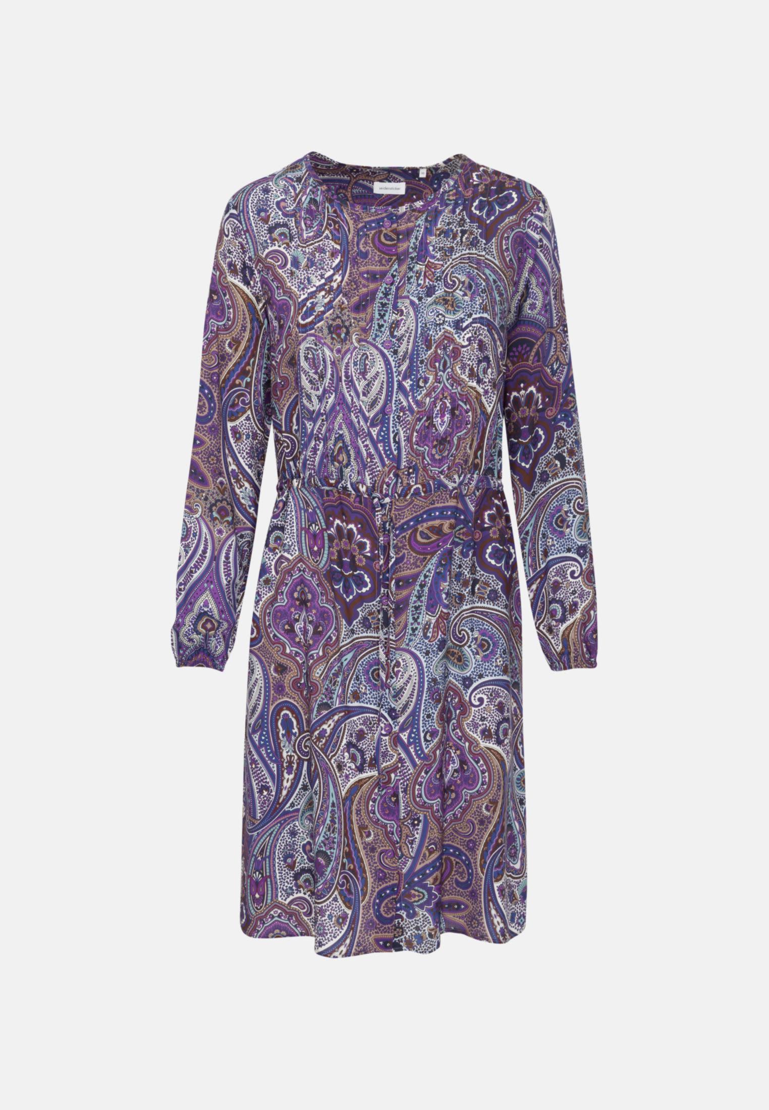 Voile Midi Kleid aus 100% Viskose in Lila |  Seidensticker Onlineshop
