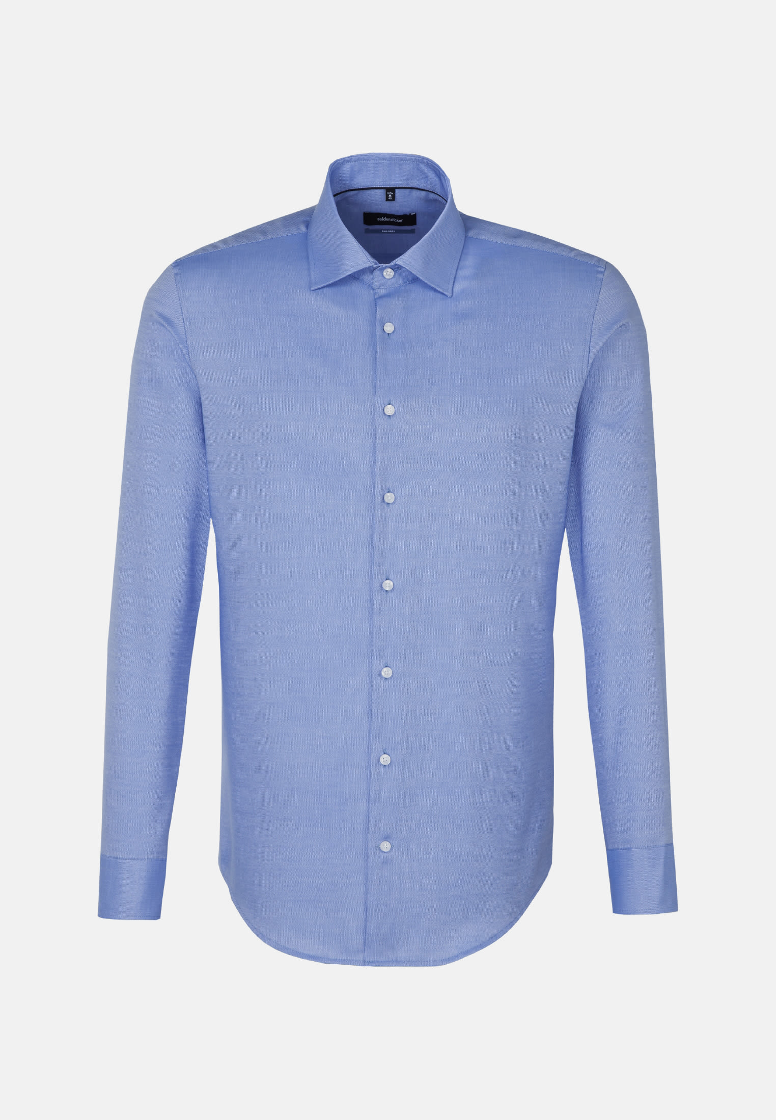 Non-iron Structure Business Shirt in Shaped with Kent-Collar and extra long arm in Light blue |  Seidensticker Onlineshop