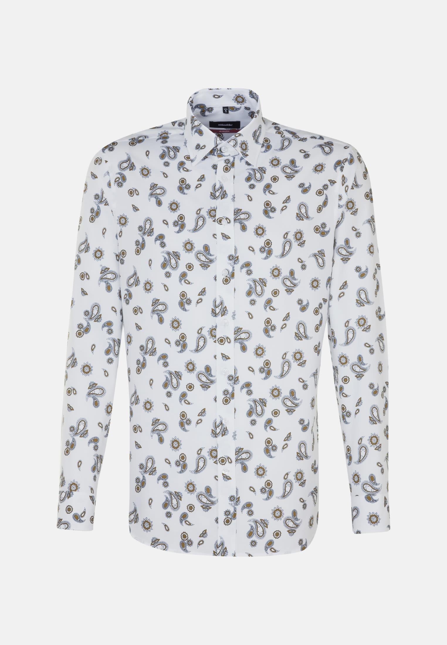 Easy-iron Twill Business Shirt in Modern with Covered-Button-Down-Collar in gelb |  Seidensticker Onlineshop