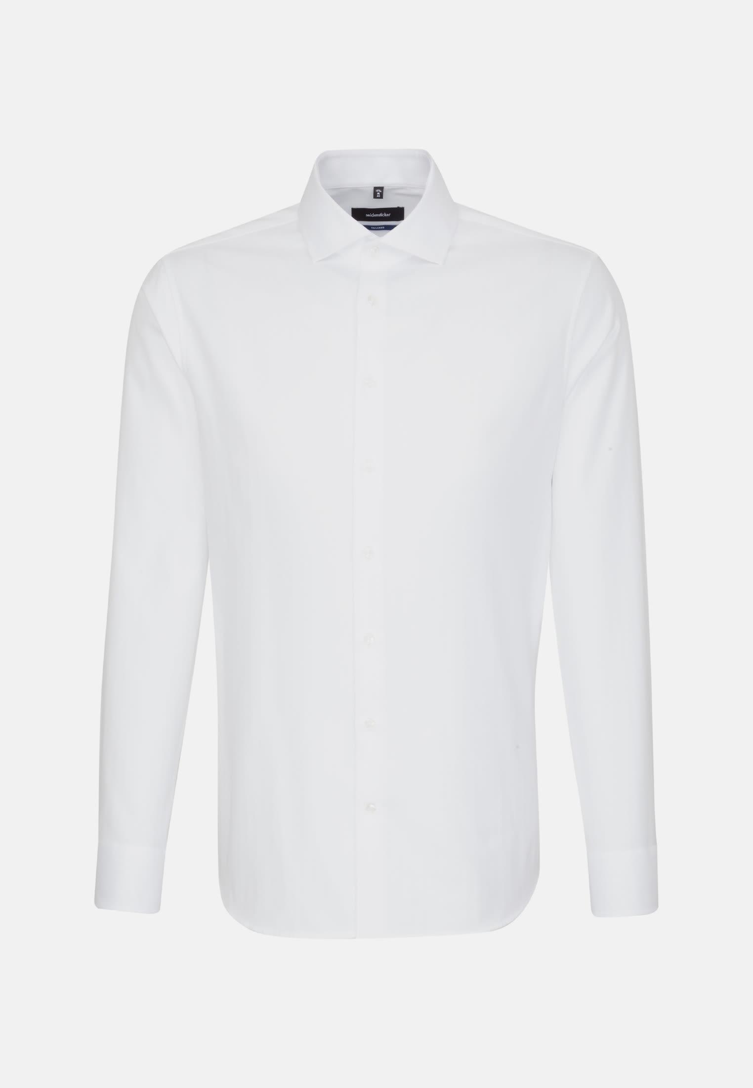 Easy-iron Herringbone pattern Business Shirt in Tailored with Kent-Collar in weiß |  Seidensticker Onlineshop