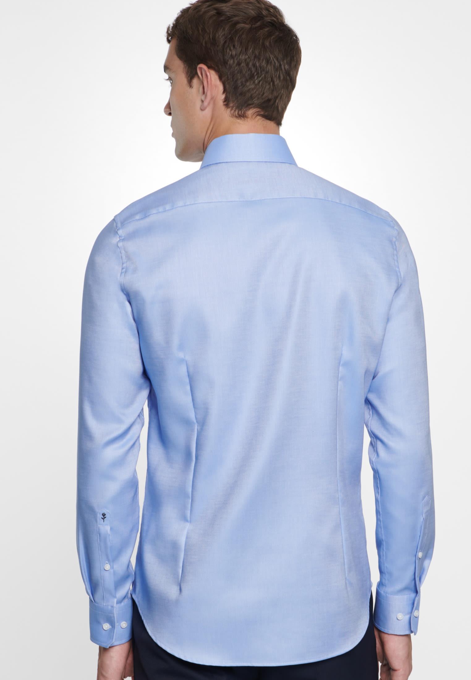 Bügelfreies Struktur Business Hemd in X-Slim mit Kentkragen in Hellblau    Seidensticker Onlineshop