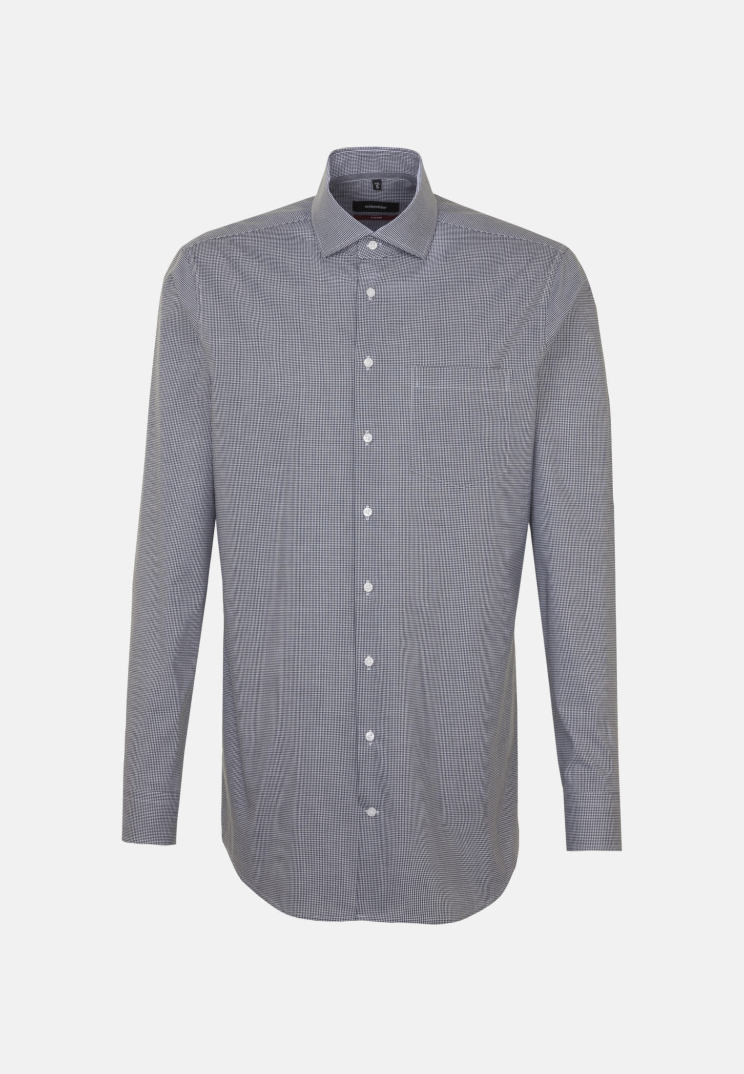 Non-iron Poplin Business Shirt in Modern with Kent-Collar and extra long arm in Dark blue |  Seidensticker Onlineshop