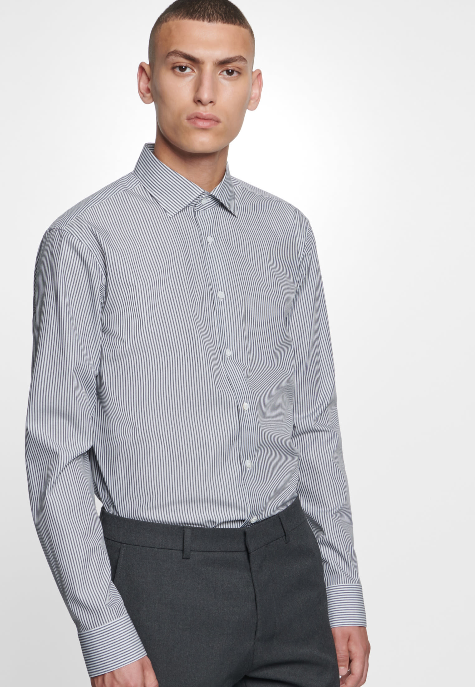 Easy-iron Poplin Business Shirt in Modern with Kent-Collar in blau |  Seidensticker Onlineshop