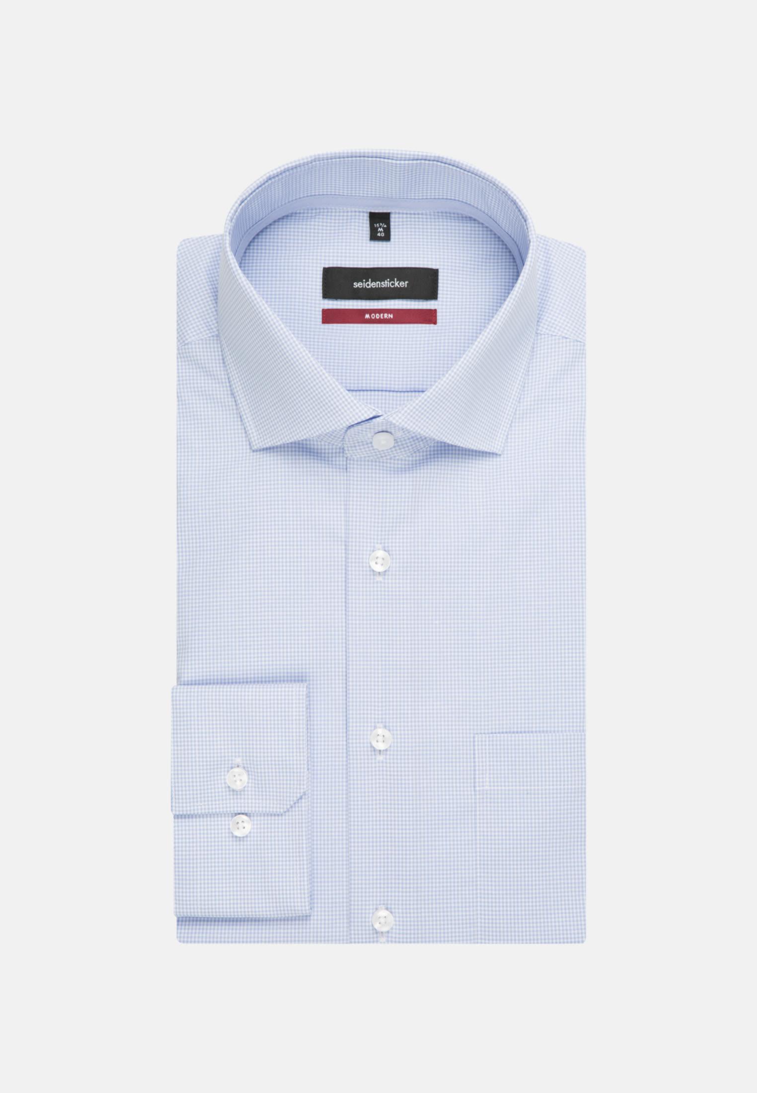 Bügelfreies Popeline Business Hemd in Modern mit Kentkragen in Hellblau |  Seidensticker Onlineshop