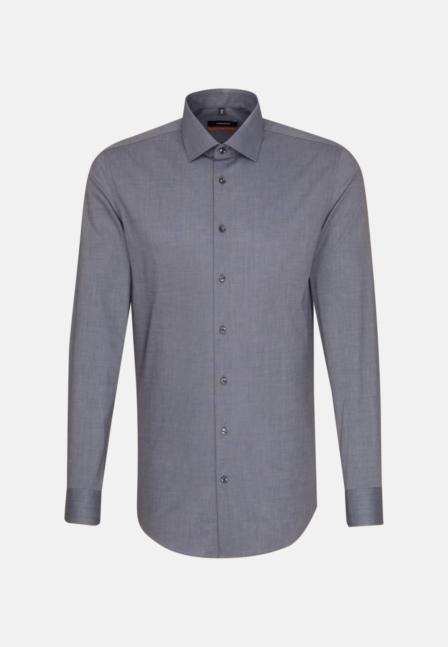 Non-iron Fil a fil Business Shirt in Slim with Kent-Collar and extra long arm in Grey |  Seidensticker Onlineshop