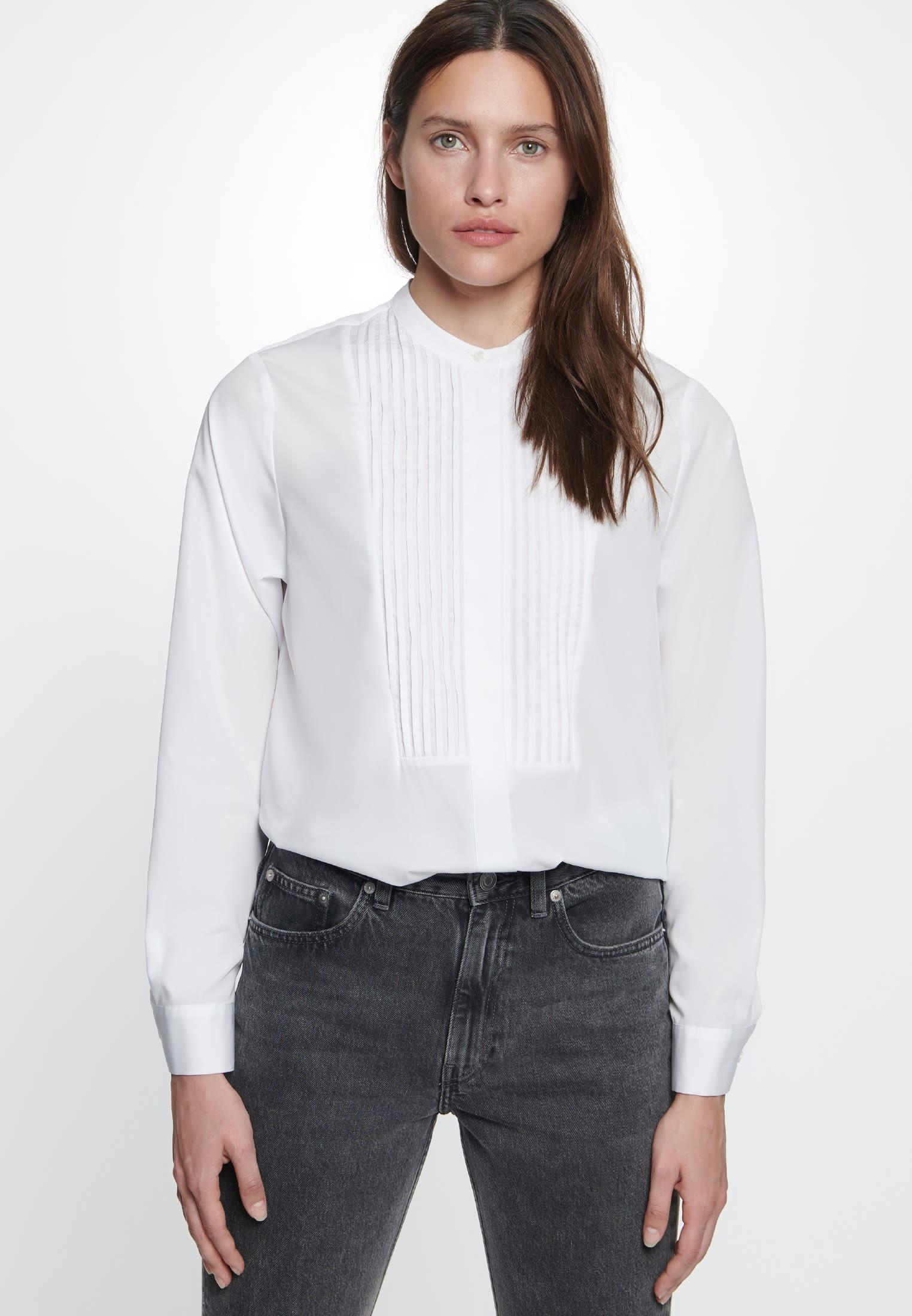 Poplin Long Blouse made of 100% Cotton in White |  Seidensticker Onlineshop