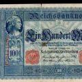 اسکناس آلمانی سورشارژ شده در جنگ جهانی اول