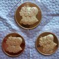 مدال طلا ۳ رخ پهلوی