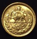 سکه طلا نیم پهلوی تصویری 1345