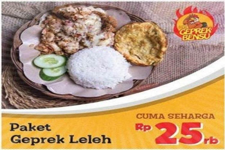 Geprek Bensu di Lampung