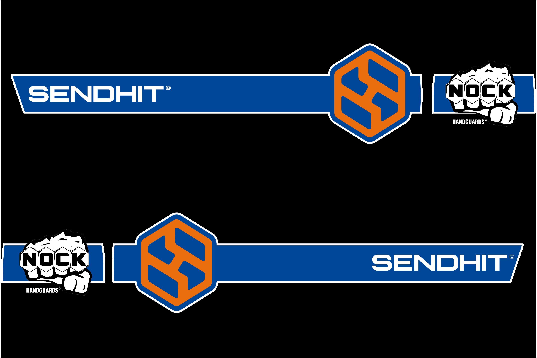 STRAIGHT - BLACK/BLUE/ORANGE
