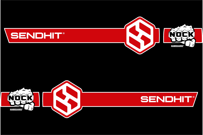STRAIGHT - BLACK/RED