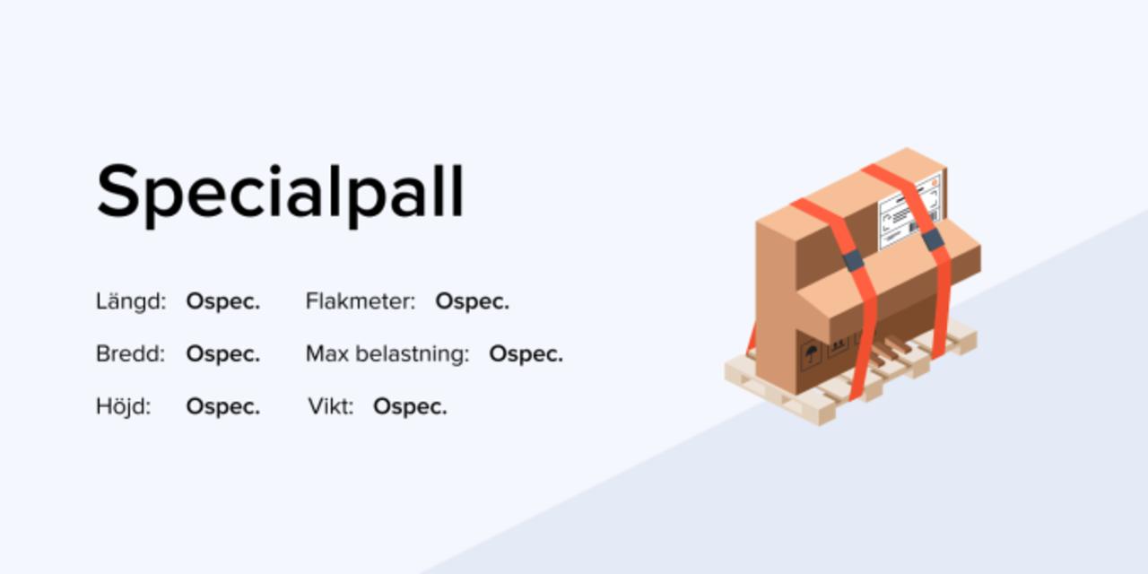 Skicka pall infografik om specialpall