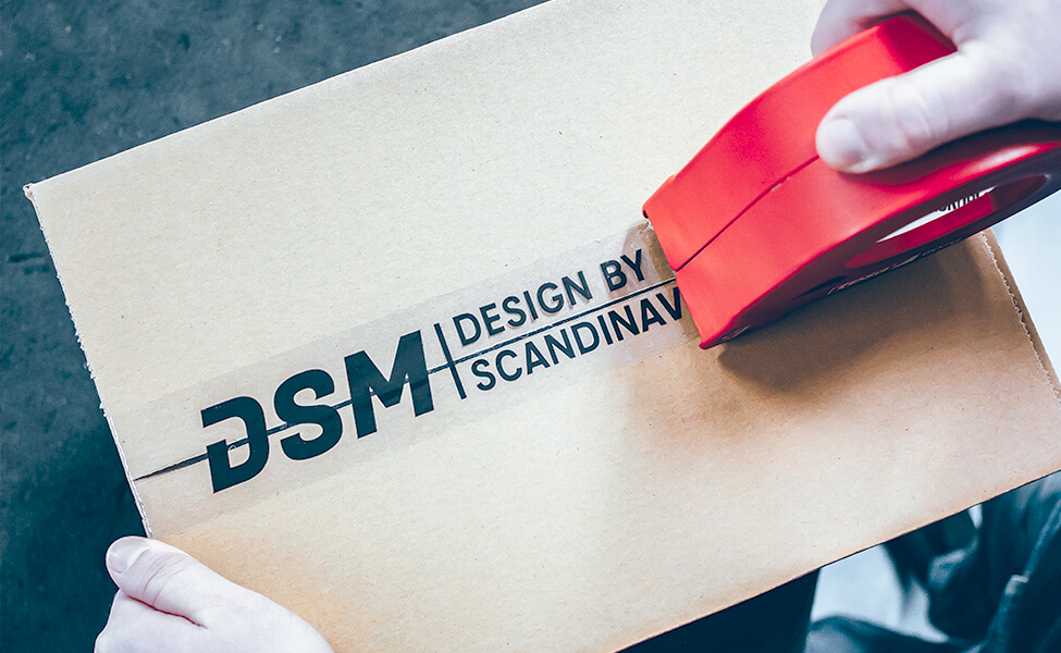 DSM export package wrapping of a box