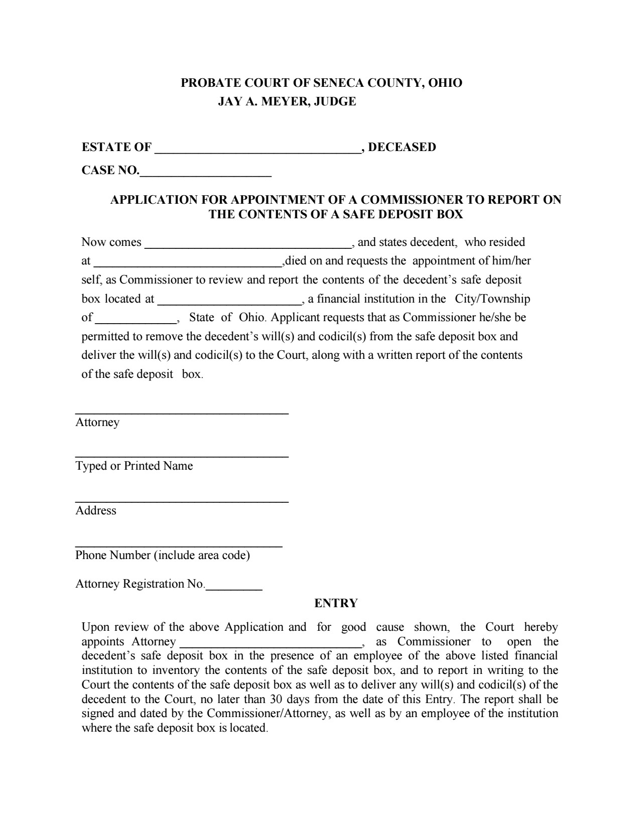 Probate forms seneca county juvenile probate court download solutioingenieria Image collections