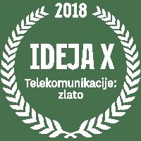 ideja x 2018 telekomunikacije zlato
