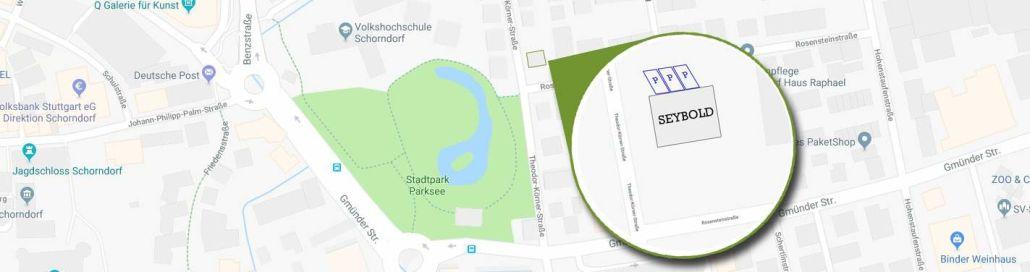 Parkmöglichkeiten - SEYBOLD - Agentur für Sichtbarkeit