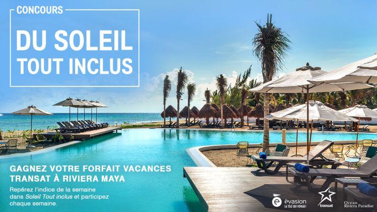 Gagnez votre forfait vacances Transat à Riviera Maya!